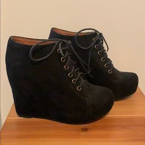 Jeffrey Campbell suede wedges